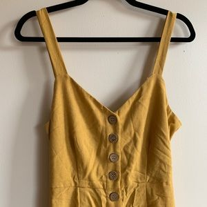 Mustard Jumpsuit with back detail